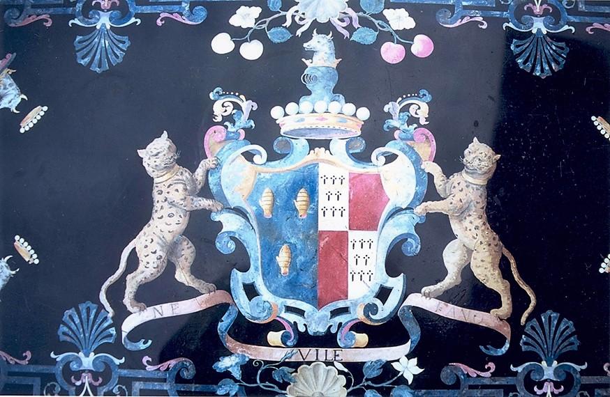 Фердинандо Энрико Хугфорд (1695—1771) . Фрагмент столешницы, 1737 г.