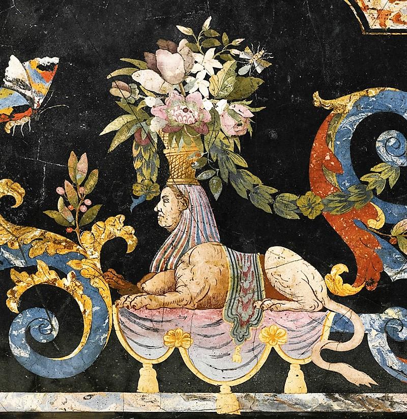 Фрагмент итальянской скальолы из собрания музея Прадо. 1735 г.