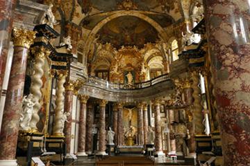 Иньтерьры Вюрцбургской резиденции в Германии