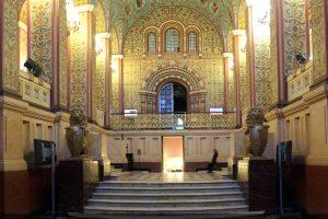 Реставрационные работы в Парадных Сенях Государственного Исторического Музея