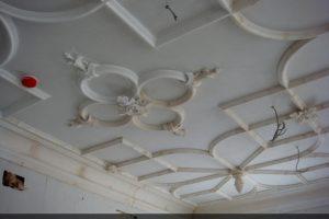 Гипсовый лепной потолок на кухне в Истринской усадьбе
