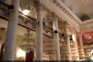Оселковый мрамор в Колонном Зале Дома Союзов
