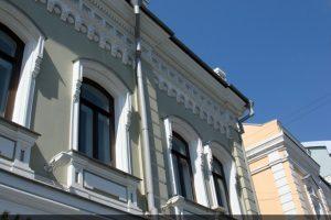 Фрагмент отреставрированного фасада на ул Малая Дмитровка д 7