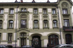 Реставрация фасада на улице Остоженка
