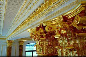 Золочение сусальным золотом в Центре Православного Наследия в Переделкино